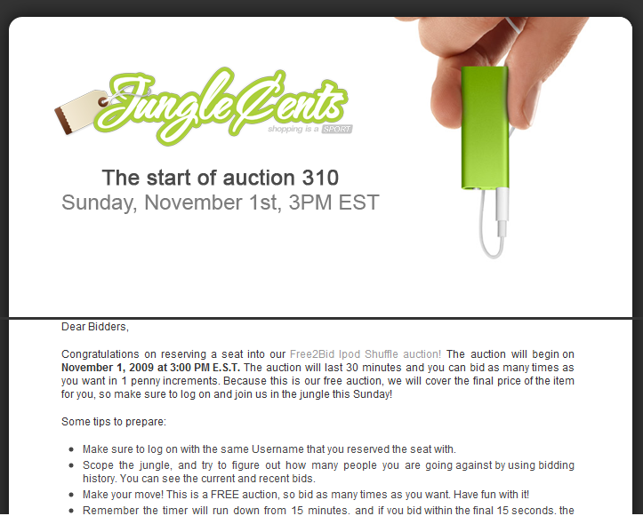 junglecents auctions