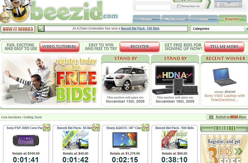 Jun 09,  · Best Answer: Beezid is a Penny Auction. I am currently new to the whole Idea of a penny auction but I have come to understand it. The website Beezid works like this. It attracts you with the promise of cheap costing items which a priced way below their value tommudselb.tk: Resolved.