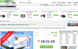 swoopo trip around the world