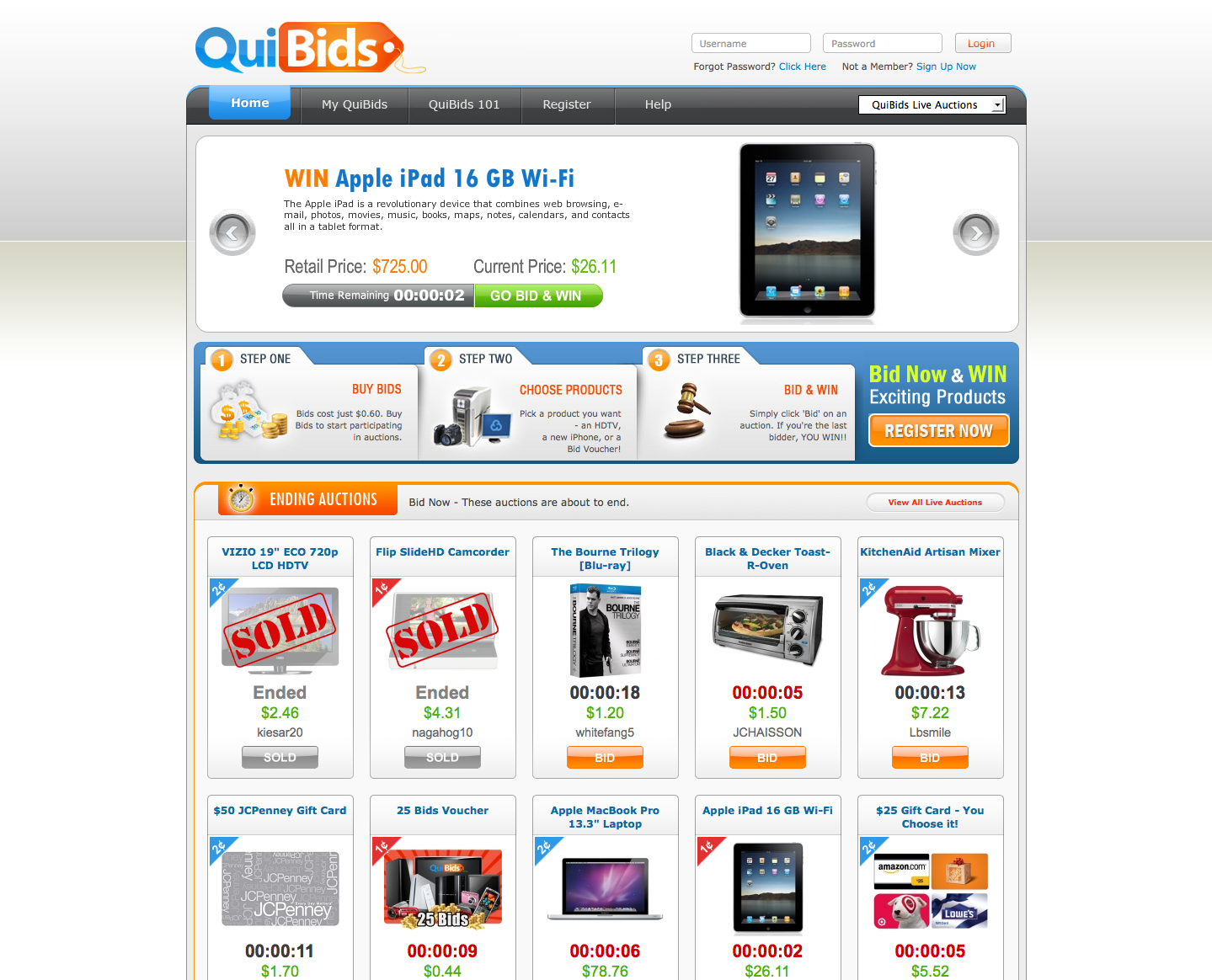 QuiBids Knock-offs - Penny Auction Watch®