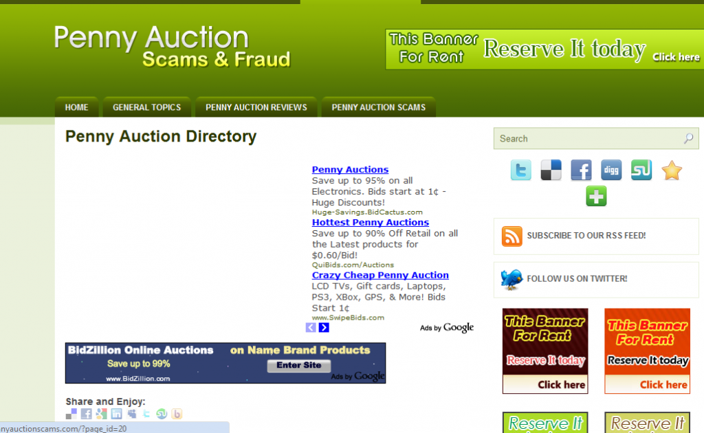 watchpennyauctionscams directory