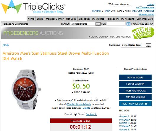 tripleclicks penny auctions