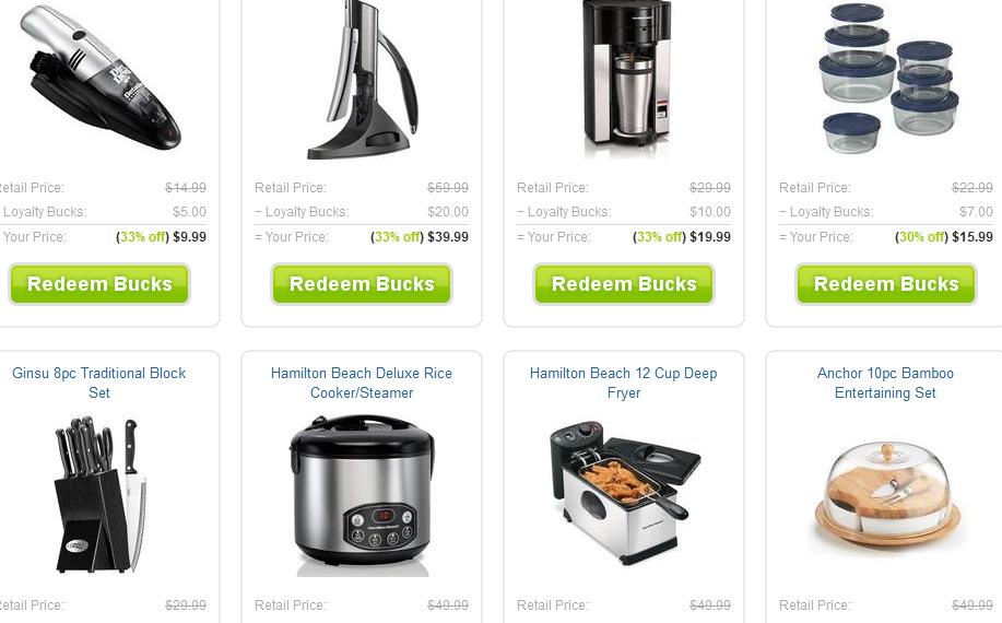housewares bigdeal.com loyalty rewards