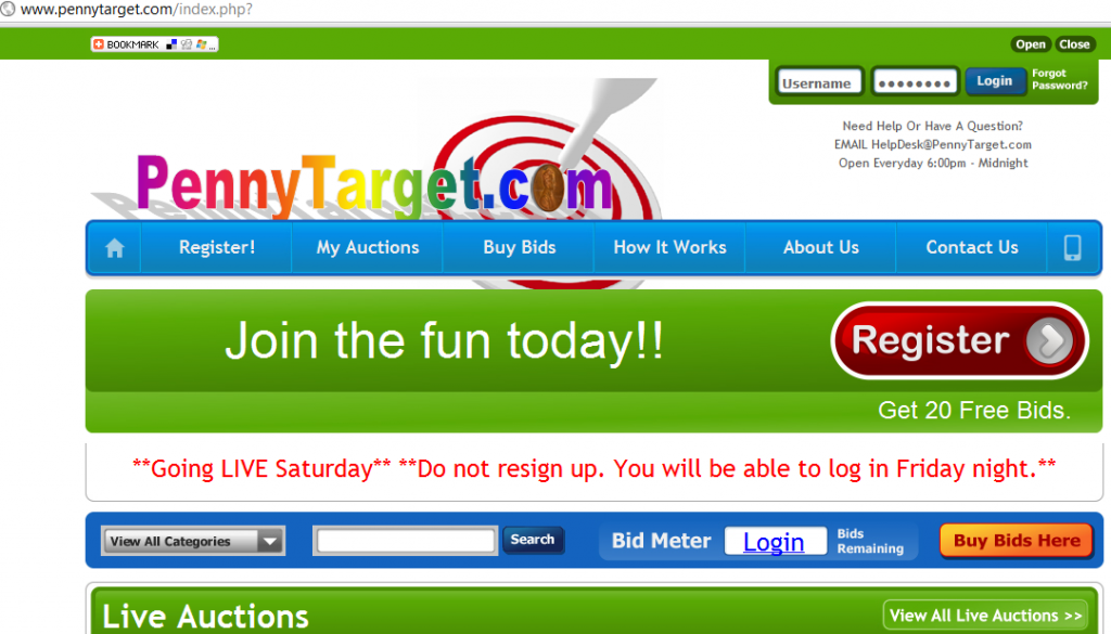 pennytarget.com penny auction