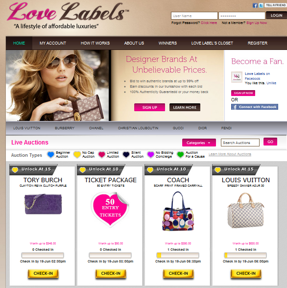 lovelabels.com screenshot
