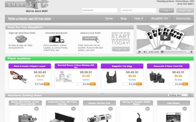 shopbig.com penny auction