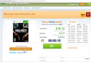 xbox penny auction