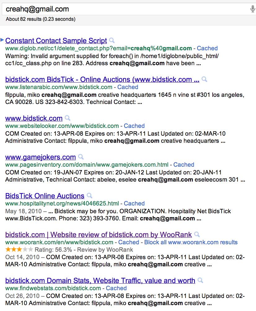 creahq google bidstick