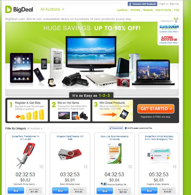 bigdeal.com penny auction