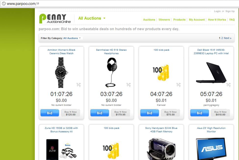 parpoo.com penny auction