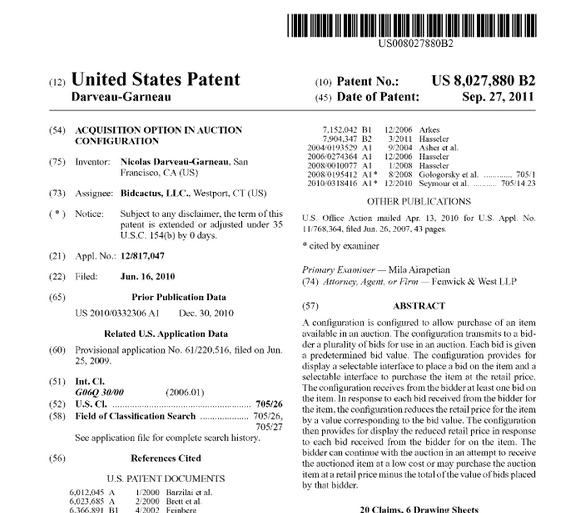 US patent bidcactus-buy-it-now-bigdeal