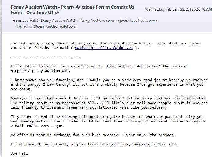 amanda lee penny auction watch fan mail