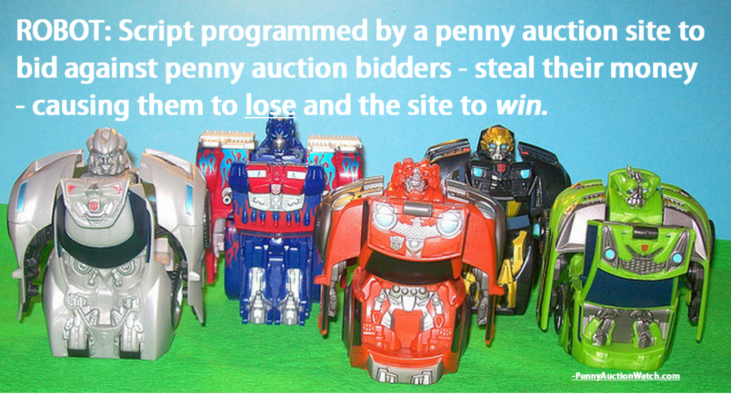 penny auction robot bidding defined