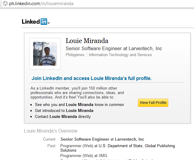 LouieMiranda LinkedIn