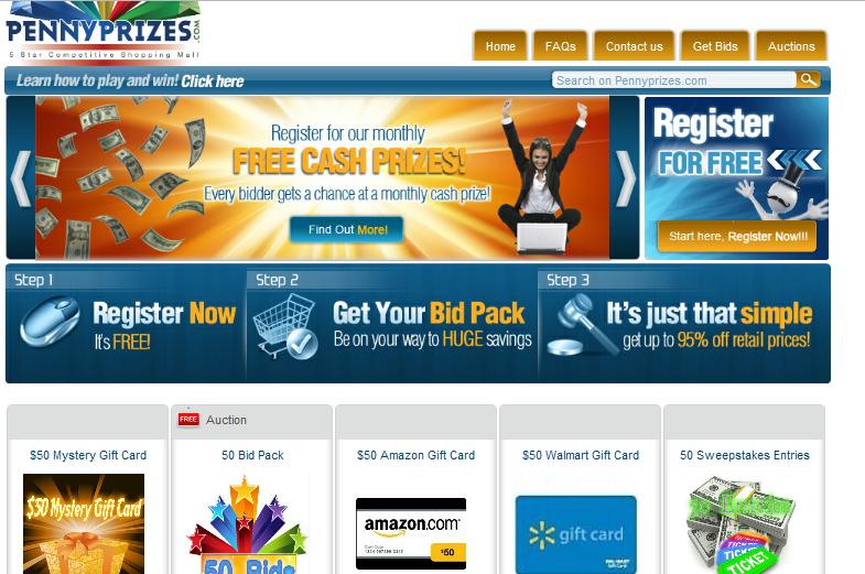 Penny auction sites prizes