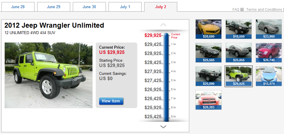 Ebay Motors Offers Special Price Drop Auctions Until July