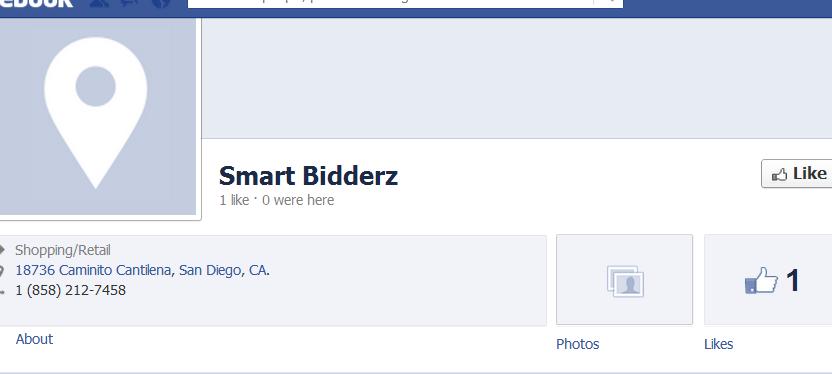 Smartbidderz.com's Facebook