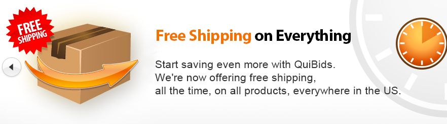 Free Shipping QuiBids