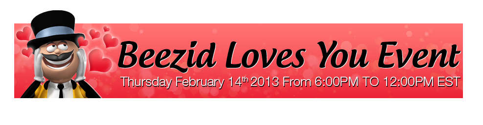 beezid promo valentines day bids