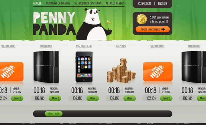 PENNY AUCTION penny panda