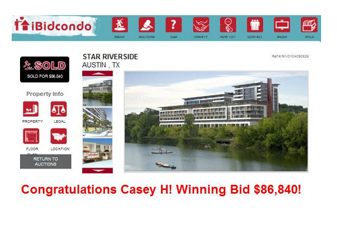 ibidcondo real estate penny auction