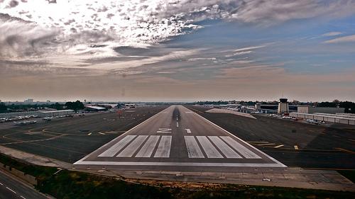 approaching runway